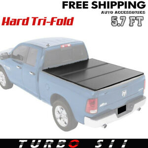 2019 Hard Tri fold Tonneau Cover For Dodge Ram 1500 5 7 ft Bed Without Rambox G2