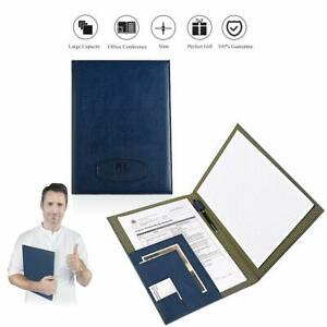 Leather Portfolio Folder Padfolio For Business School Office Conference Presenta