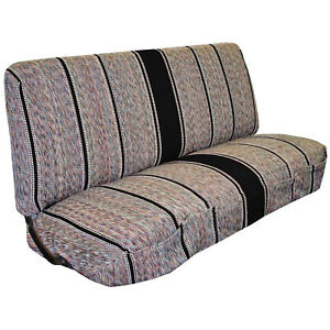 Saddle Blanket Truck Bench Chevrolet Dodge Ford Seats Protection Cover Black