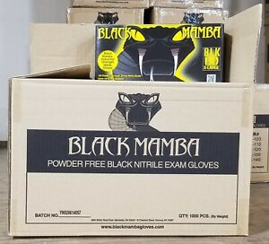 Black Mamba Gloves Disposable Nitrile Mechanic Glove Hvac Utility Heavy Duty