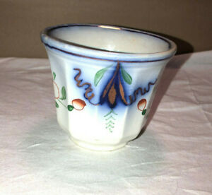 Antique Gaudy Ironstone Handless Cup Urn Floral Match Beautiful Flow