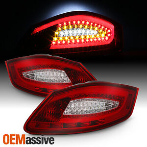 Fit 2005 2008 Porsche Boxster 987 2006 2008 Cayman Red Clear Led Tail Lights