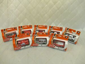 Matchbox Coca Cola Chevy Van Tahoe Mustang Ford Falcon Transit Lot of 8 New