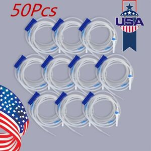 50x Dental Implant Irrigation Tube Hose 273cm Disposable Fit W Surgical Usa