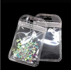 Clear Plastic Bag Zip Lock Data Line Charger Pvc Jewelry Packing With Hang Hole