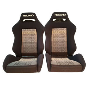 2 Jdm Recaro Sr3 Gradient Fabric Reclinable Bucket Racing Seats Mustang Bmw Cars