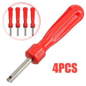 4pcs Car Screwdriver Valve Stem Core Remover Tire Tube Installer Repair Tools