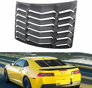Rear Window Louvers Sun Shade Cover Gt Lambo Style Fit 2010 2015 Chevy Camaro