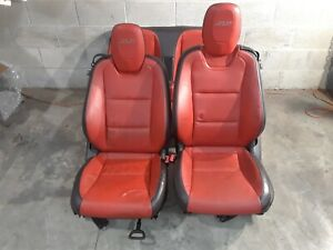 10 15 Camaro Ss Convertible Front Rear Leather Seats Seat Set Aa6469