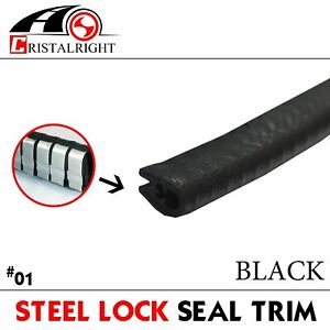 35ft Car Rubber Sealing Mould Strip Push on Door Edge Protective Decorate Black