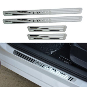 Stainless Steel Door Sill Scuff Plate Guards For Volkswagen Vw Polo 2011 2017