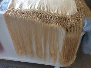Antique Peach Piano Scarf 40 X 40 19 To 22 Fringe Is Ruffled