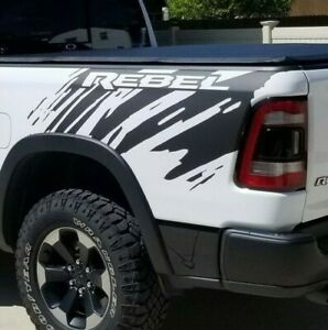 2019 Dodge Ram Rebel Splash Grunge Logo Truck Vinyl Decal Bed Graphic Reflective