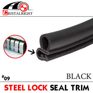 20ft Moulding Rubber Weatherstrip Seal Strip For Auto Door Lok Edge Protection