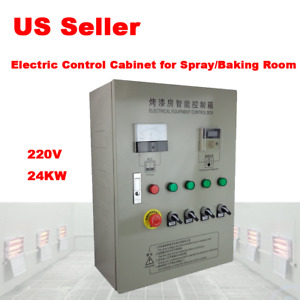 24kw Electric Control Cabinet For Spray baking Booth Infrared Ir Paint Heating