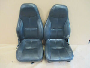 93 96 Camaro Rs Ss Z28 Coupe Graphite Leather Seat Seats Set 0507 1