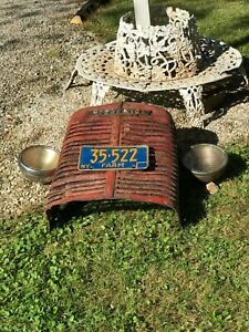 Vintage Mccormick Tractor Grill W Name Badge Ny Farm License Plate
