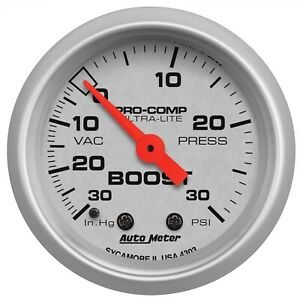 Autometer 4303 Ultra Lite Mechanical Boost Vacuum Gauge