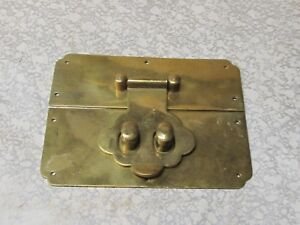 Vintage Brass Oriental Latch And Catch
