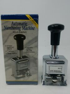 Rogers Automatic Numbering Pro Stamp Machine 4213 Self Inking Tested g