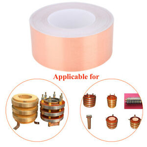 50m Highly Conductive Strong Adhesive Copper Shielding Foil Tape 6cm Width Hot