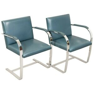 Set Of Two Original 1950s Mies Van Der Rohe Brno Chairs For Knoll International
