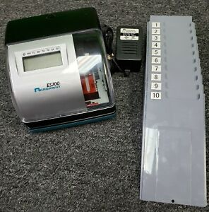 Acroprint Es700 Time Clock And Time Card Holder