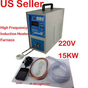 15kw High Frequency Induction Heater Melt Furnace 220v 30 80khz 33a Water Cool