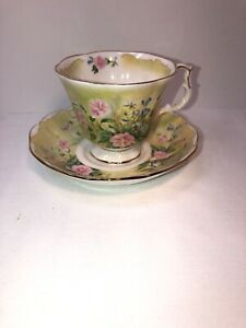 Royal Albert Glorious Morning Bone China Made In England Tea Cup And Saucer