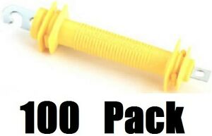 100 Ea Dare 1247 Rubbergate Yellow Synthetic Rubber Electric Fence Gate Handles