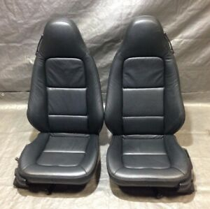 2000 2002 Bmw E36 7 Z3 Roadster Black Classic Leather Power Seats Pair Z3003