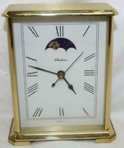 Vintage Chelsea Brass Clock 4x5 3 4x2 Changes From Sun To Moon Ss