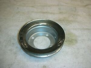 Corvair Engine Top Fan Chrome Pulley Late 64 69 Gig Bearing Brighten Up Engine