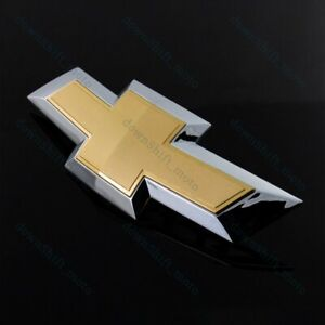 New For 2014 2018 Chevy Chevrolet Impala Front Grill Grille Bowtie Emblem Gold