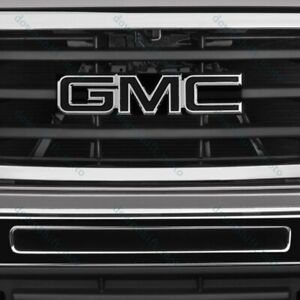 For 08 10 Gmc Sierra 1500 2500hd 3500hd Front Grill Grille Emblem Badge Black X1