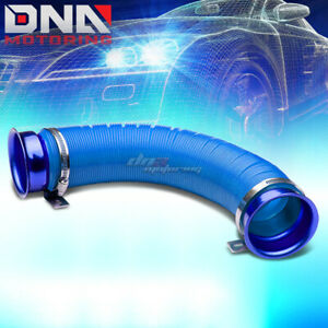 3 Multi Flexible Intake Piping Pipe Inlet Hose Tube Duct Short Ram Cold Air Blue