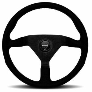Momo Performance Monte Carlo 320mm Black Alcantara Stitching Steering Wheel