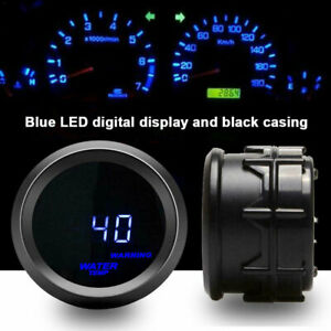 2 52mm Universal Auto Car Water Temp Gauge Blue Digital Led Temperature Meter