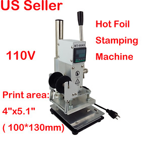 110v 4 x5 1 hot Foil Stamping Tipper Bronzing Pvc Id Card Letter Press Printing