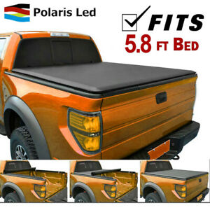 Roll Up Tonneau Cover 5 8 Ft Bed fit Gmc Sierra Chevy Silverado 1500 2007 2013