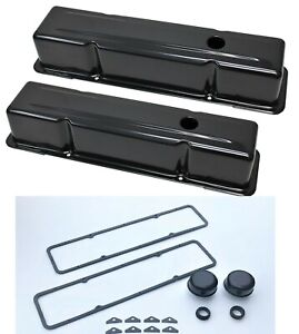 Sbc Chevy Valve Covers Black Tall Kit Chevrolet 327 350 383 Engines Chevelle