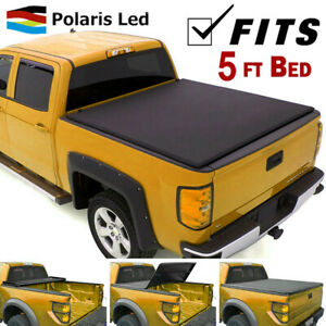 For 16 19 Nissan Frontier 5 Ft Short Bed Roll Up Soft Tonneau Cover Pickup 4door