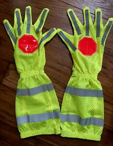 Traffic Control Safety First Responders Construction Signal Reflective Gloves