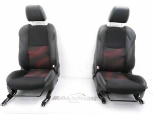 2010 2013 Mazdaspeed Mazda 3 Speed Oem Both Front Seats Leather Cloth Black Red