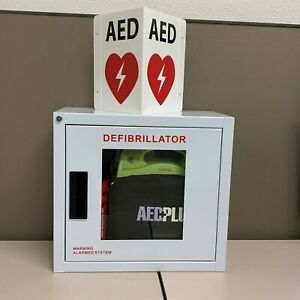 Zoll Aed Plus Kit Alarm Cabinet battery case electrode cpr Kit aed Sign