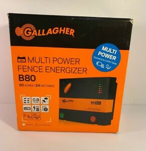 Gallagher Multi Power Fence Energizer B80 0 8 Joules 60 Acres 24 Hectares Nib