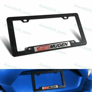 1pc Mugen Car Trunk Emblem With Abs License Plate Tag Frame For Honda Civic Si