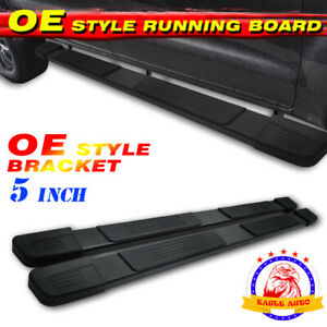 For 2019 2020 Dodge Ram 1500 Crew Cab 5 Blk Running Board Nerf Bar Side Step S