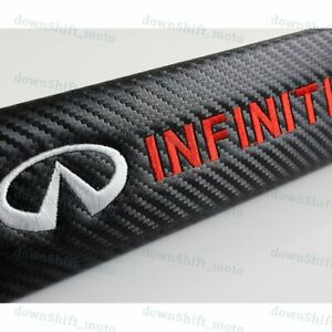 Set Of Black Carbon Look Seat Belt Cover Shoulder Pads For Infiniti G35 G37 M35