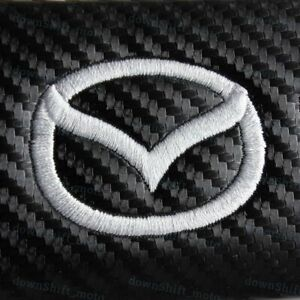 1 Set Of Carbon Look Embroidery Seat Belt Cover Shoulder Pads For Mazda Rx7 Rx8